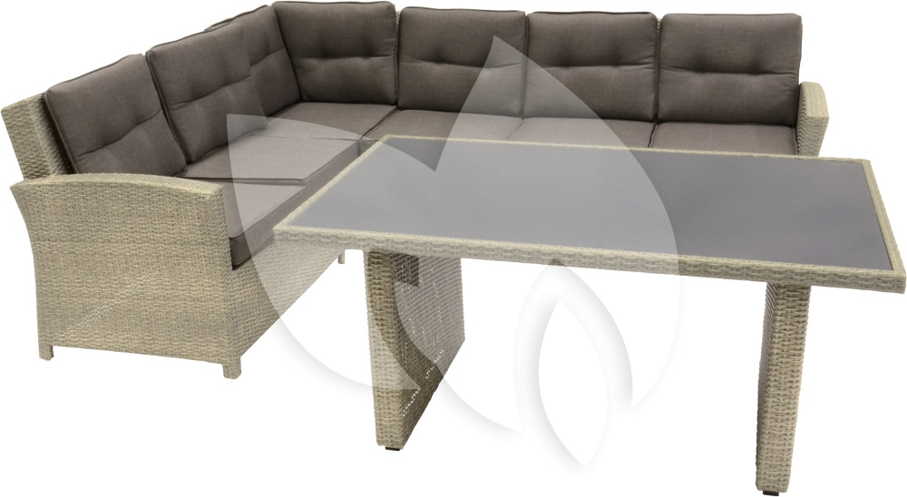 Supper club lounge dining set jazz taupe grijs loungeset - Taupe en grijs ...