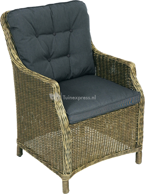 Supper Club Wicker tuinstoel Soprano met zwarte kussens   Loungeset express nl