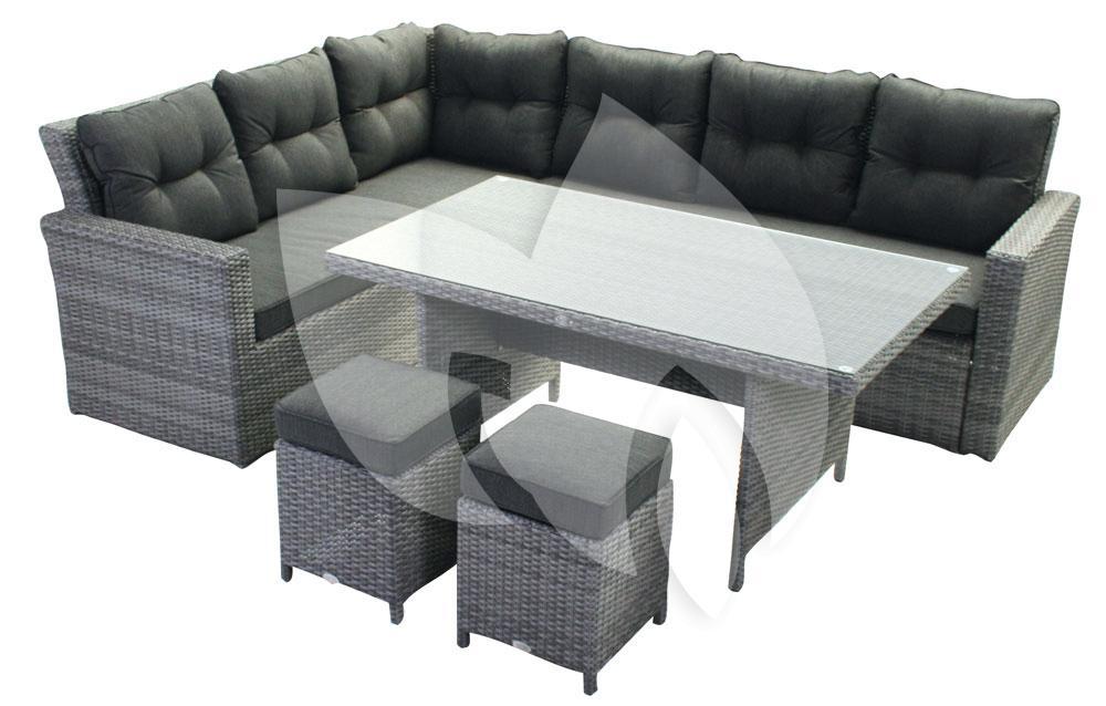 Sens line loungeset kai high dining deluxe grijs loungeset - Lounge grijs ...
