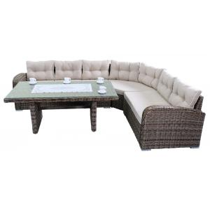 Loungeset Southamption high dining bruin