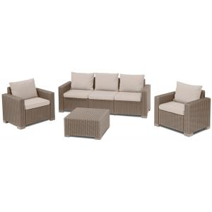 Allibert loungeset California 3-zits cappuccino