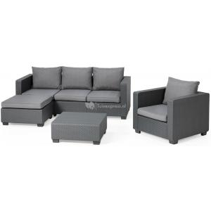 Salta chaise lounge loungeset antraciet