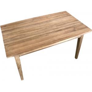 Retro look houten bijzettafel 100 x 60 cm