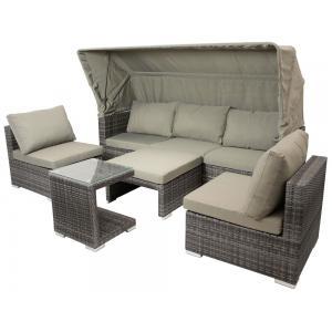 Dagaanbieding - Manacor loungeset met overkapping dagelijkse koopjes