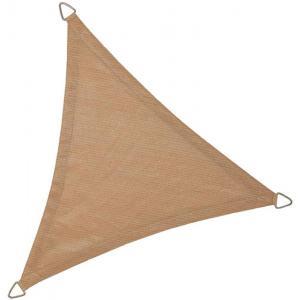 Schaduwdoek driehoek 5 meter zand