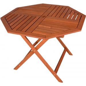 Houten tuintafel achthoekig 100 cm