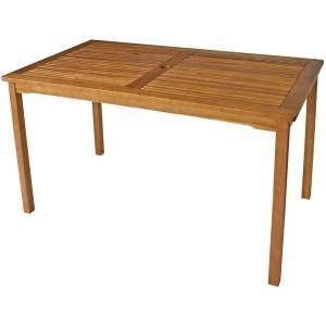Dagaanbieding - St.-Vincent-houten-tuintafel-140-x-80-cm dagelijkse koopjes