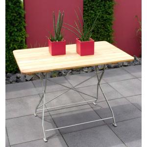 Tuintafel hout opklapbaar Bad Tolz verzinkt 70 x 110cm