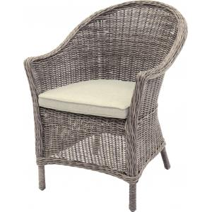 Wicker tuinstoelen Salondi taupe set van 2