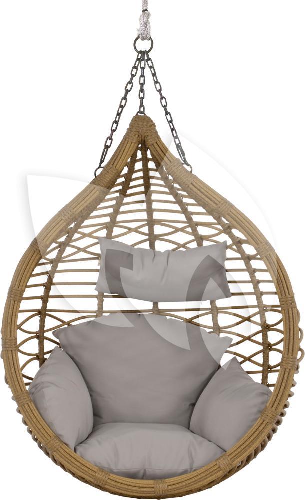 Hangstoel Met Parasol.Express Amazona Egg Hangstoel Naturel Loungeset Express Nl