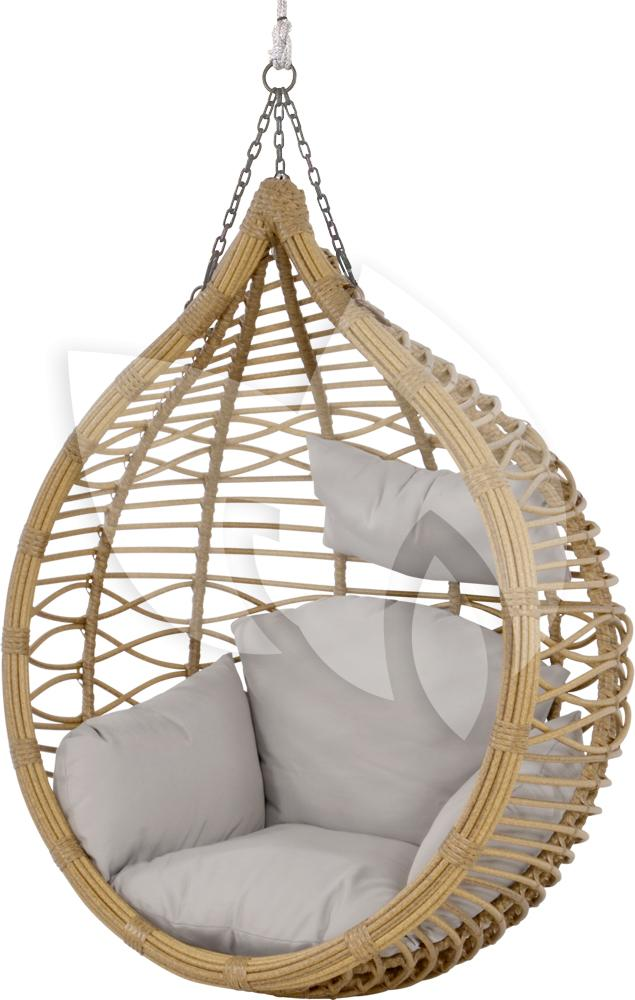 Express amazona egg hangstoel naturel loungeset for Hang stoel
