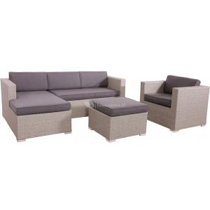 Loungeset Jazz Pebble met liggedeelte