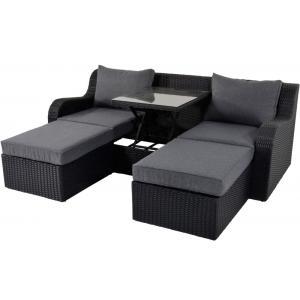 Pandora loungeset zwart