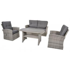 Valencia Smoke wicker dining loungeset