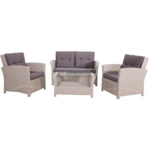 Wicker loungeset Jazz Pebble
