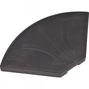 Kruisvoet betontegel 20 kg zwart