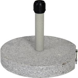 Parasolvoet graniet rond grijs 30 kg