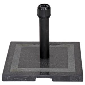 Parasolvoet graniet vierkant zwart 20 kg