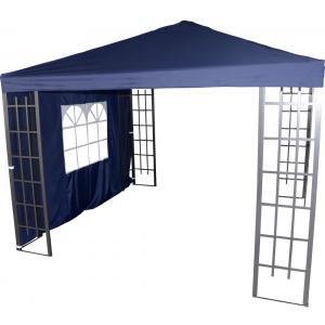 Zijwand met venster voor Paviljoen Royal Blauw