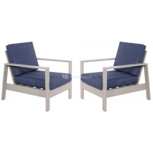 Lounge dining stoelen Malibu 2 stuks
