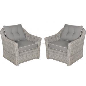 Loungestoelen Aura set van 2 stuks