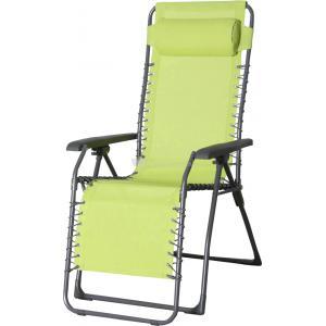 Relaxstoel lime textileen