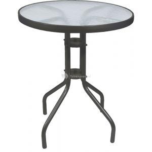 Terrastafel met glasplaat 60 cm antraciet