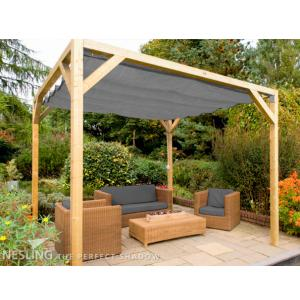 Complete Nesling pergola Stand Alone antraciet - 200 x 500 cm
