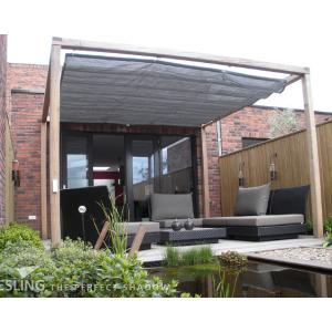 Complete Nesling pergola Wall 1 antraciet