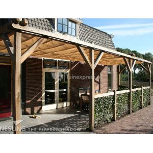 Complete Nesling pergola Wall 2 sand - 200 x 500 cm