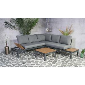 SenS line aluminium loungeset Lotus antraciet