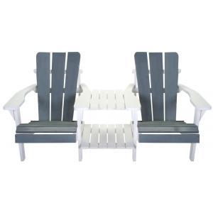 Dagaanbieding - Dubbele loungestoel Montreal grijs/wit dagelijkse koopjes