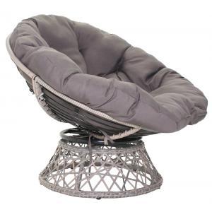Dagaanbieding - Donja wicker loungestoel draaibaar zand dagelijkse koopjes