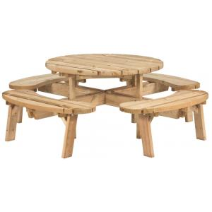 Picknicktafel rond 240 cm diameter