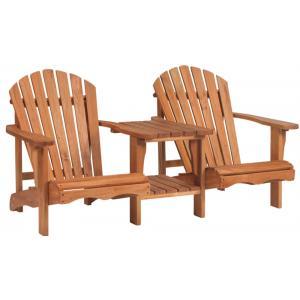 Dagaanbieding - Dubbele loungestoel Relax hardhout dagelijkse koopjes
