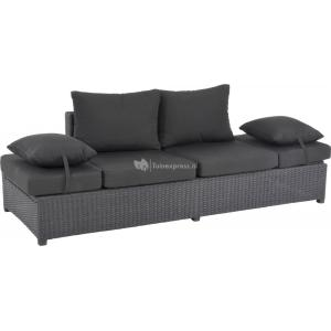Roma loungebank zwart